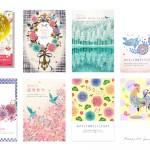 ■2017年 年賀状デザイン ― インプレス  『キラリ☆と輝くおしゃれな年賀状 2017』