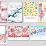 ■2018年 年賀状デザイン ― インプレス  『キラリ☆と輝くおしゃれな年賀状 2018』